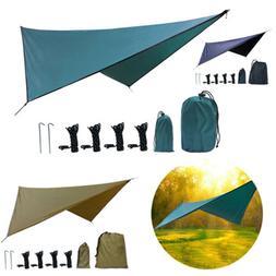 Outdoor Square Diamond Hammock Sunshade Waterproof Camping F