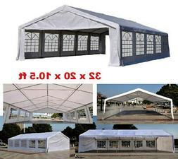 Outsunny White Heavy Duty Carport Canopy Wedding Tent Garage
