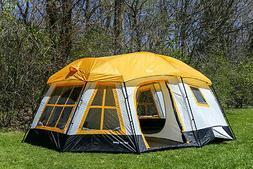 Tahoe Gear Ozark 16-Person 3-Season Cabin Tent, Orange | TGT