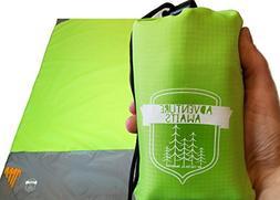 Packable Beach Camping Pocket Blanket - Outdoor Blanket is P