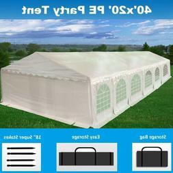 SALE $$$ 40' x 20' PE Party Tent - Heavy Duty Carport Canopy