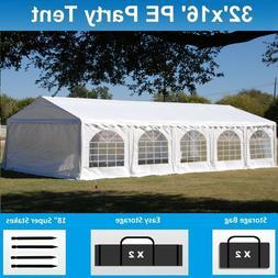 32' x 16' PE Party Tent - Heavy Duty Carport Canopy Wedding