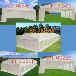 PE Party Tent - Carport Wedding Shelter Canopy with Storage