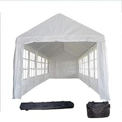 DELTA Canopies 30'x10' PE Tent White  - Wedding Party Tent C