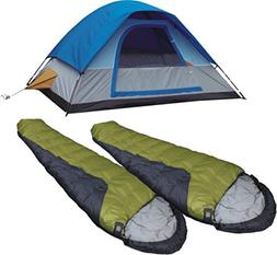 High Peak USA Alpinizmo 5 Tent Combo Set, Green/Blue, Regula