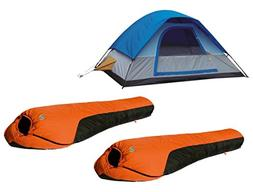 Alpinizmo High Peak USA 5 Men Tent + 2 Mt. Rainier 20F Sleep