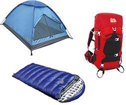 Alpinizmo High Peak USA Kodiak  Sleeping Bag + Monodome 3 Te