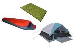 High Peak USA Alpinizmo Moffit 6 Tent + Florida 0F Sleeping