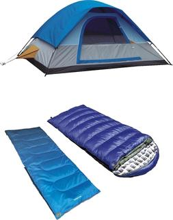 Alpinizmo High Peak USA Sleeping Bag + Swiftlite Tent + Back