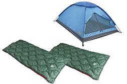 Alpinizmo High Peak USA Two Ranger 20F Sleeping Bags 3 Men T
