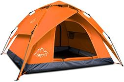 Toogh 2-3 Person Camping Tent 4 Season Backpacking Tent Auto