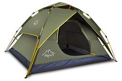 Toogh 2-3 Person Camping Tent Backpacking Tent Automatic Ins
