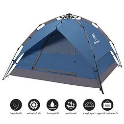 Camel 2-3 Person Family Instant Tent for Camping Ultralight