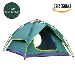 Waleaf 2-3 Person Instant Camping Tent Dual Layer 210 D Fabr