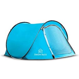 Star Home 3-4 Person Pop up Tent Big Outdoor Instant Set up