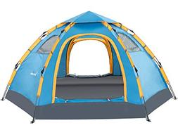 Wnnideo 5-6 Person Tent Instant Pop Up Family Camping Tent 4