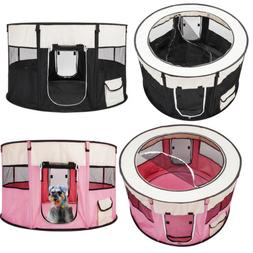 Pet Dog Cat Tent Playpen Exercise Playpen Soft Cage Fence Tr
