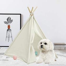 UKadou Upgrade Pet Teepee Dog Bed, Machine Washable Pet Tent