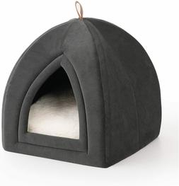 Bedsure Pet Tent Cave Bed for Cats/Small Dogs   Removable Wa