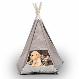 Pet Tent House Bed Portable Teepee Kennel for Little Dogs an