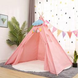 Pink Large kids Girl Teepee Play Tents Children Gaming Play