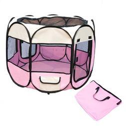 Pink Pet Tent Exercise Pen Playpen Dog Crate XS by BestPet
