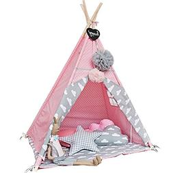 Free Love @New design pink color kids play tent indian teepe