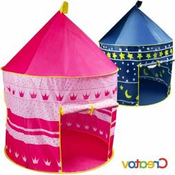 Pink Portable Folding Kids Princess Play Tent Castle for Ind