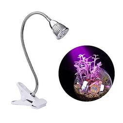 Plant Lamp, LED Grow Lights, Dual 5W LED Clip Desk Lamp with