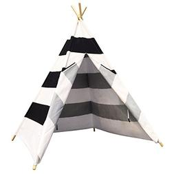 Free Space Children Play Tent with Stripes 100% Cotton Four