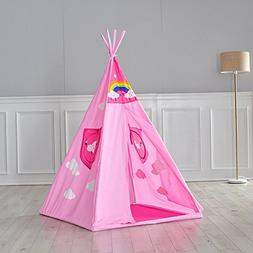 Asweets Kids Play Tent for Princess 4 Poles Cloud Print Indi