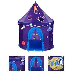 TANGON Kids Play Tent, Castle Play Tent Rocket Ship Playhous