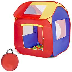 COSTWAY Children Play Tent Foldable Castle Playhouse for Boy