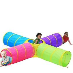 Kids 6pc Play Tent and Tunnel Toy Jungle, Indoor & Outdoor C