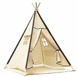 Lavievert Play Tents & Tunnels Indian Canvas Teepee Children