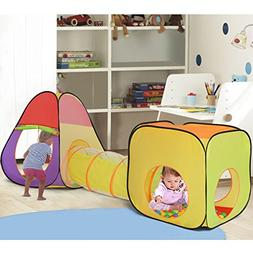 Costzon Play Tents, 3 In 1 Pop Up Toddler Ball Pit House wit