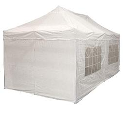 10'x20' Pop up 6 Wall Canopy Party Tent Gazebo Ez White - F