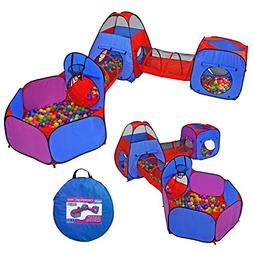 Yoobe 5pc Pop up Play Tent and Tunnels Toy Indoor & Outdoor