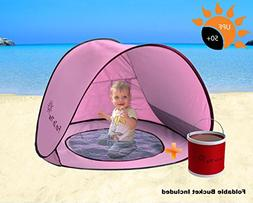 Baby Pop Up Tent by Fun In The Sun | Portable Baby Beach Ten