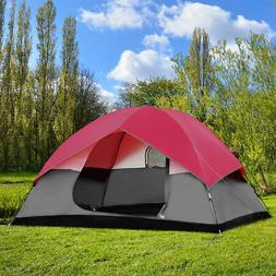 Portable 6 Person Family Tent Easy Set-up Outdoor Camping Hi