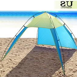 Portable Beach Canopy Sun Shade Triangle Patchwork Tent Shel