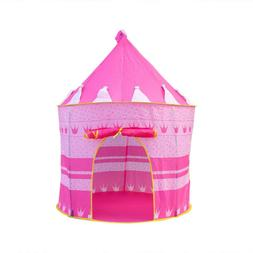 Portable Children Pop Up Play Tent Boys Prince Castle Indoor