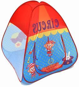 Kids Portable Indoor 4 Pc Play Tent Combo Popup Ballpit:2 Te