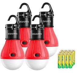 E-TRENDS 4 Pack Portable LED Lantern Tent Camp Light Bulb fo