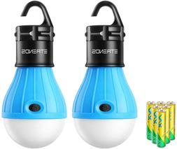 E-TRENDS 2 Pack Portable LED Lantern Tent Light Bulb for Cam