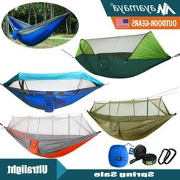 Portable Nylon Hammock Tent With Mosquito Net Double Outdoor