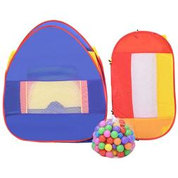 BeUniquetoday Portable Kid Play House Toy Tent with 100 Ball