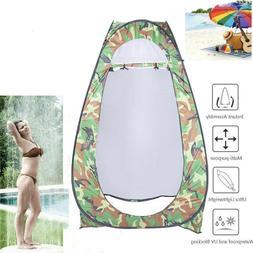 Portable Pop Up Outdoor Toilet Shower Tent Windproof Dressin