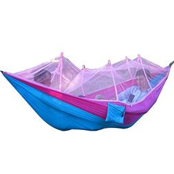 Ousamd 260X130cm Portable High Strength Fabric Camping Hammo