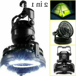 Portable Tent Fan LED Light Lamp Camping Hiking Outdoor Equi